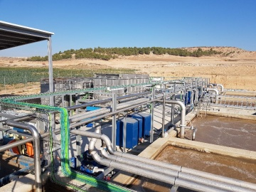 Picture of a sewage treatment plant with combined FBR and SBR wastewater industrial treatment, desig